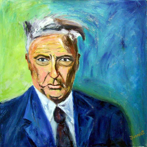 """Allen Forrest """"Wilhelm Reich,"""" oil on canvas"""